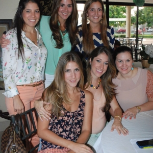 Cristi Montalbn, Mara Paula de Manrique, Anita Hurtado, Mnica Coello, Johana Illingworth y Gabriela de Pareja